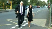 Boris Johnson and his wife, Marina Wheeler