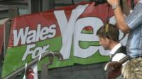 Poster for Yes vote campaigners