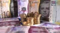 Scottish banknotes and pound coins