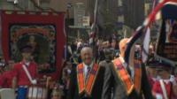 Orange Order members and bandsmen from Northern Ireland joined a pro-Union rally in Edinburgh