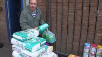 Alan Henning packing for a convoy
