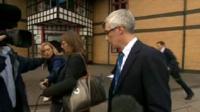 Dr Myles Bradbury leaves Cambridge Crown Court