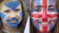 Scottish and British face paint