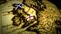 English and Scottish flags