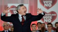 Gordon Brown speaks to NO supporters