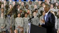 President Barack Obama speaks at U.S. Central Command (CentCom) at MacDill Air Force Base in Tampa