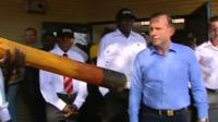 Tony Abbott in Northern Territory base