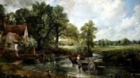 Detail from Constable's painting The Hay Wain
