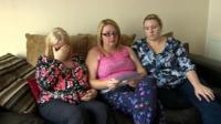 Relatives of Sonia Powell, including her daughter Carol Bowen (l) and granddaughter, Gemma Evans (r)