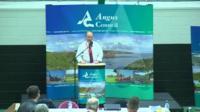 Angus declaring in the Scottish referendum