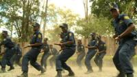 Security guards in training in Kenya