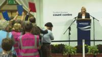 The result of the Scottish Borders vote is announced
