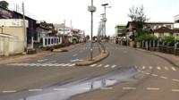 Freetown streets under curfew