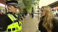 Laura Bates and police officer