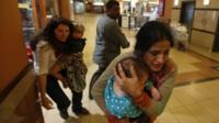 Women and children flee Westgate mall