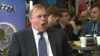 John Prescott pulling funny face