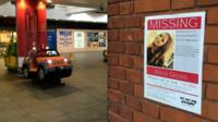 A missing poster for schoolgirl Alice Gross in Ealing Broadway
