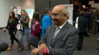 Keith Vaz perfoms a Gangnam Style routine
