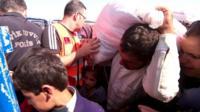 Refugees at Syrian-Turkish border