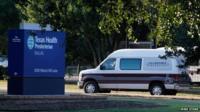 Ambulance outside Texas Health Presbyterian