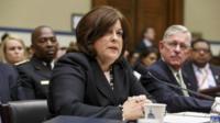Secret Service Director Julia Pierson (centre) appeared in Washington on 30 September 2014