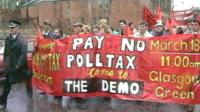 Poll tax demonstration in Glasgow