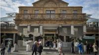 Alex Chinneck's installation at Covent Garden