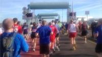 Runners in the 2013 Cardiff half marathon