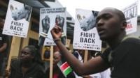 Nairobi protestors against ivory and rhino horn trade