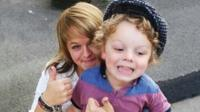 Nikki Westgarth with her first child, Jake Grimes