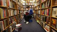 Student in bookshop