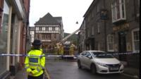 Firefighters in Llanrwst