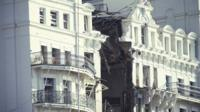 Archive photo of Brighton Grand Hotel following IRA bomb in 1984
