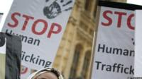 Stop trafficking poster