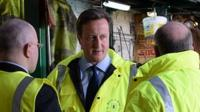 David Cameron meets workers in Strood, Kent