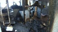 Llanrwst fire damage