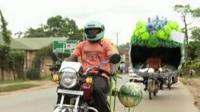 Art on motorbikes in Kampala