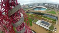 View from Orbit tower as abseil down it
