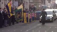 Funeral cortege in Royal Wotton Bassett