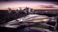 Artist's render of 2020 National Olympic Stadium, Japan