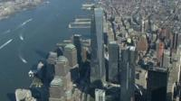 One World Trade Center seen from the sky