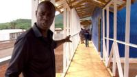 Clive Myrie inside treatment centre
