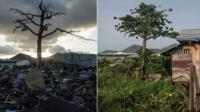 Magallanes district, Tacloban, after Typhoon Haiyan and now