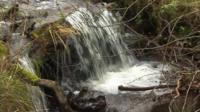 Waterfall near Llangynidr, Powys