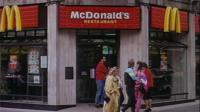 A London branch of McDonalds in 1991