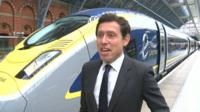Eurostar chief executive Nicolas Petrovic with the new train