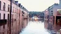 Bridge Street in Newry has been badly affected, with cars several feet under water