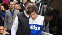 Singer Louis Tomlinson arrives at a music studio