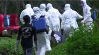 Ebola health workers in Liberia