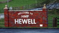 HMP Hewell entrance sign